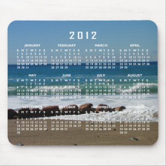Rocks at the Beach; 2012 Calendar Mouse Pad