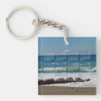 Rocks at the Beach; 2013 Calendar Keychain