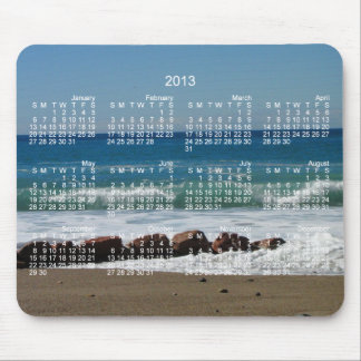 Rocks at the Beach; 2013 Calendar Mouse Pad