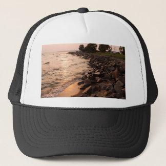 Rocks at Waterfront Trucker Hat