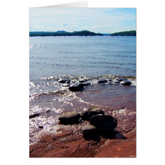 Rocks At Waters Edge Card