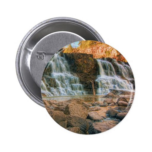 Rocks Below Middle Falls 2 Inch Round Button