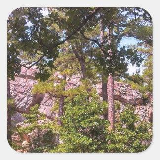 Rocks Below Robber's Cave Square Sticker