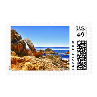 Rocks By The Coast Postage Stamps