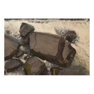 ROCKS CATARACT GORGE LAUNCESTON TASMANIA AUSTRALIA WOOD WALL ART