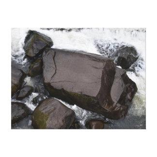ROCKS CATARACT GORGE LAUNCESTON TASMANIA CANVAS PRINT