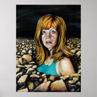 Rocks Cover Illustration Poster