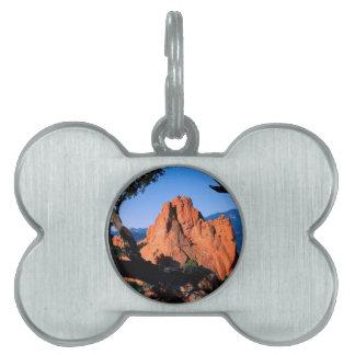 Rocks Garden Gods Colorado Pet Name Tags