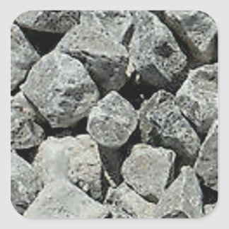 rocks ground stones square sticker