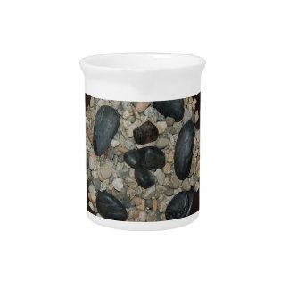Rocks in Bowl Drink Pitcher