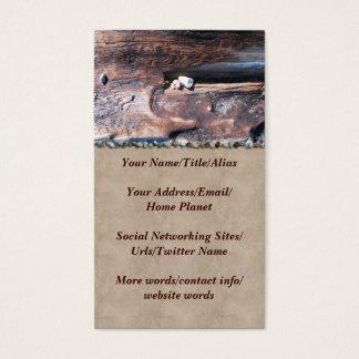 Rocks In Log Business Card
