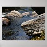 Rocks In Stream Nature Print