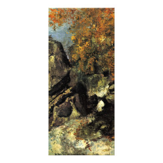 Rocks In The Forest Of Fontainebleau Rack Card