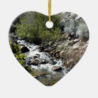 Rocks in the Stream Ceramic Ornament