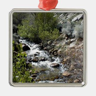 Rocks in the Stream Metal Ornament