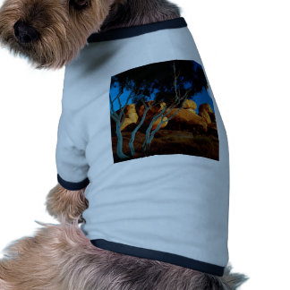 Rocks Land By The Light Moon Pet Shirt