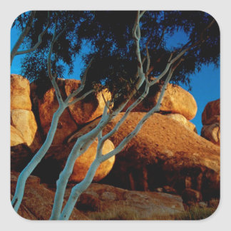 Rocks Land By The Light Moon Square Sticker