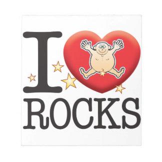 Rocks Love Man Scratch Pads