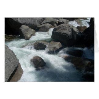 Rocks - Merced River Greeting Card