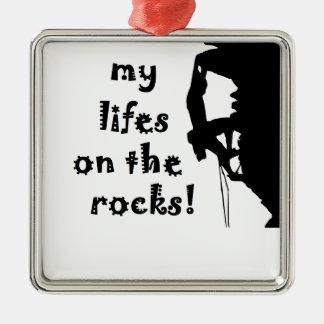 rocks metal ornament