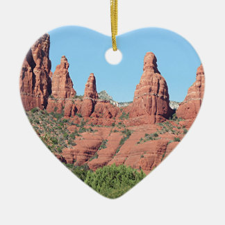 Rocks near Sedona, Arizona,USA 2 Ceramic Ornament