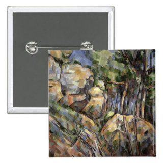 Rocks near the Caves below the Chateau Noir, c.190 2 Inch Square Button