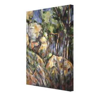 Rocks near the Caves below the Chateau Noir, c.190 Canvas Print