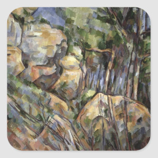 Rocks near the Caves below the Chateau Noir, c.190 Square Sticker