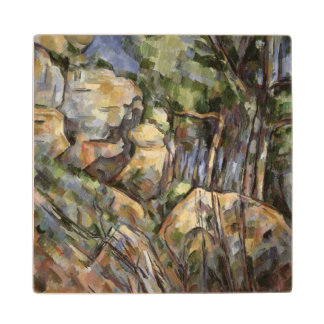 Rocks near the Caves below the Chateau Noir, c.190 Wooden Coaster