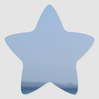 Rocks of Tavolara island on blurred background Star Sticker