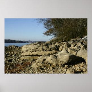 Rocks on a Beach Poster
