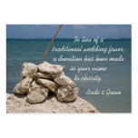 Rocks on Beach Wedding Charity Favor Card Large Business Cards (Pack Of 100)