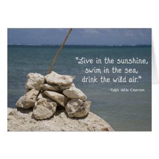 Rocks on the Beach Card