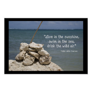 Rocks on the Beach Poster Print