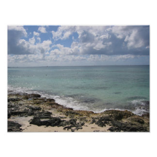 Rocks on the Beach Shore Poster