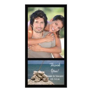 Rocks on the Beach Wedding Thank You Photo Card