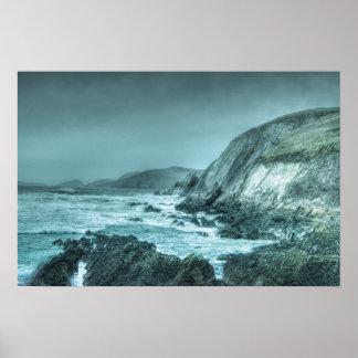 Rocks on the Shore (borderless) Posters
