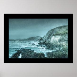Rocks on the Shore Print