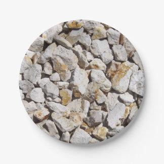 Rocks Paper Plate