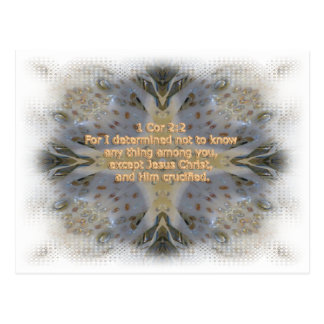 Rocks pattern cross Christian bible verse Postcard