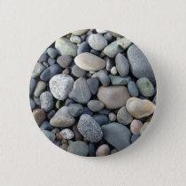 Rocks, pebbles, stones pinback button