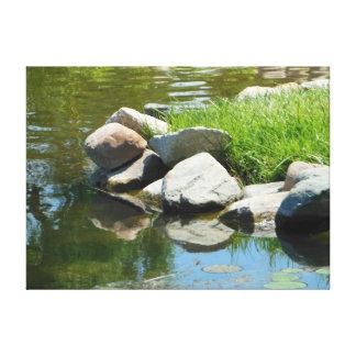 Rocks Reflection Canvas Print