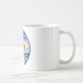 Rocks-Sea White Arabian Horse Coffee Mug