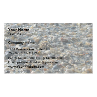 Rocks, Shells And Pebbles On Glaveston Beach, Tx - Business Card Template