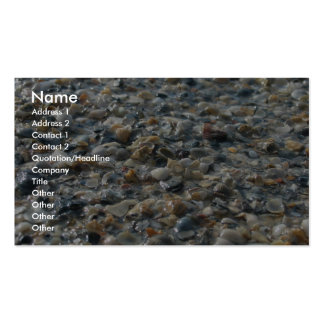 Rocks, Shells And Pebbles On Glaveston Beach, Tx - Business Card