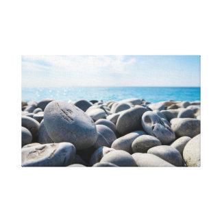Rocks   Sky   Sea   Ocean Canvas Print