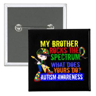 Rocks Spectrum Autism Pinback Button