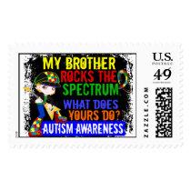 Rocks Spectrum Autism Postage