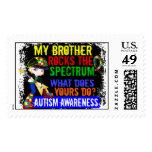 Rocks Spectrum Autism Postage Stamp