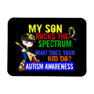 Rocks Spectrum Autism Son Magnet